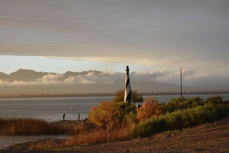 lighthouse Lake Havasu City Az Water Oil Pump Sunset Tree Lake Sky Shore Lakeshore Panoramic Observation Point Horizon Over Water Lighthouse The Great Outdoors - 2018 EyeEm Awards