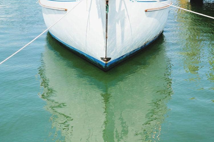 High Angle View Of Boat Sailing In Sea
