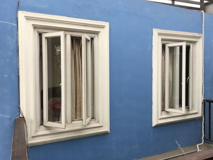 Closed window of building