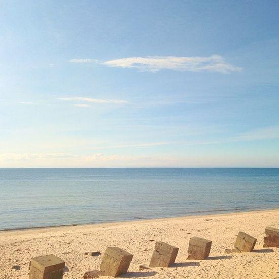 Across the sand. Sand Beach Summer Sea water waves sky horizon sunny clouds scotland