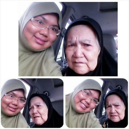 Mamak ( All of us call our nanny with that title) back to KL already... She cant control the tears drop... Will miss you always and will always pray for you mamak ^^ The one and only nanny left... * T_T muka bulat abes * Nanny Lovely Almightybless