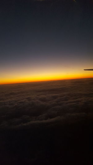 sunset Astronomy Space Airplane Aerospace Industry Horizon Galaxy Aerial View Sky Landscape Sky Only