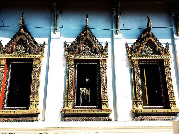 Windows temple, yellow, Thailand, color, lighting, life , human