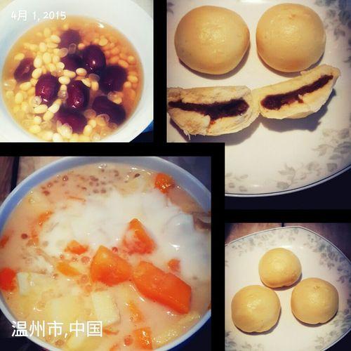 Mango Apple Grapefruit Yogurt Sago Green Bean And Corn Steamed Bun Red Dates Soybean Soup
