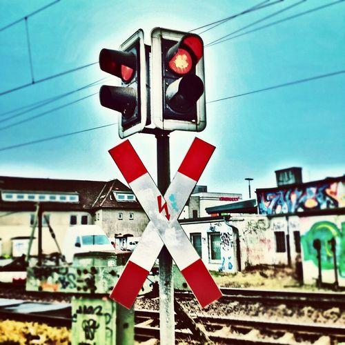 Goodmorning Train Bahn Red Sighn Beautiful Gutenmorgen