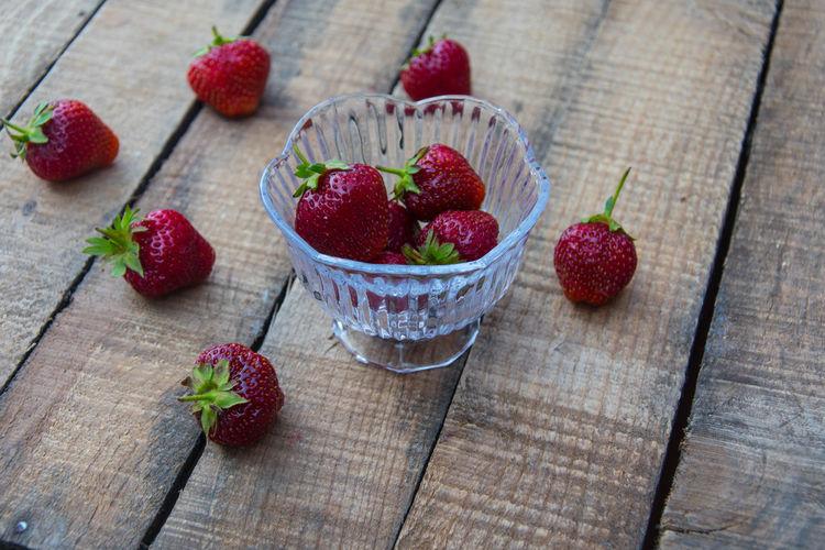 strawberries on