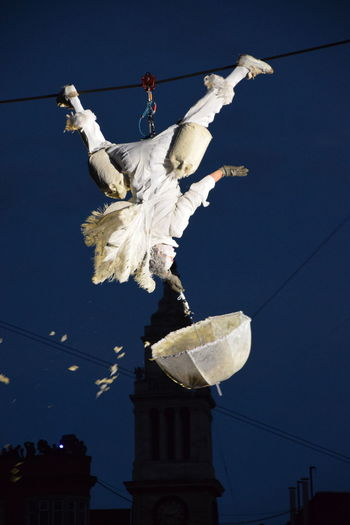Place des Anges, Kingston-upon-Hull, East Yorkshire, UK. 2nd July 2016. Art Blue Cable City Of Culture 2017 Cloud Day Feathers Hull Hull 2017 Hull City Of Culture 2017 Low Angle View No People Outdoors Place Des Anges Pole Power Line  Power Supply Sky