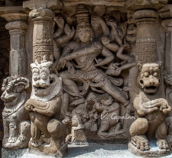 High relief of Dancing Shiva. Ancient Carving Famous Place High Relief History Kanchipuram Monument Sculpture Sculptures Shiva Tamilnadu