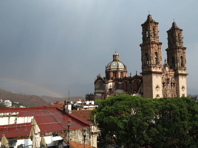 Taxco, cathedral Architecture Building Exterior Built Structure Day Dome History Nature No People Outdoors Place Of Worship Religion Sky Spirituality Travel Travel Destinations