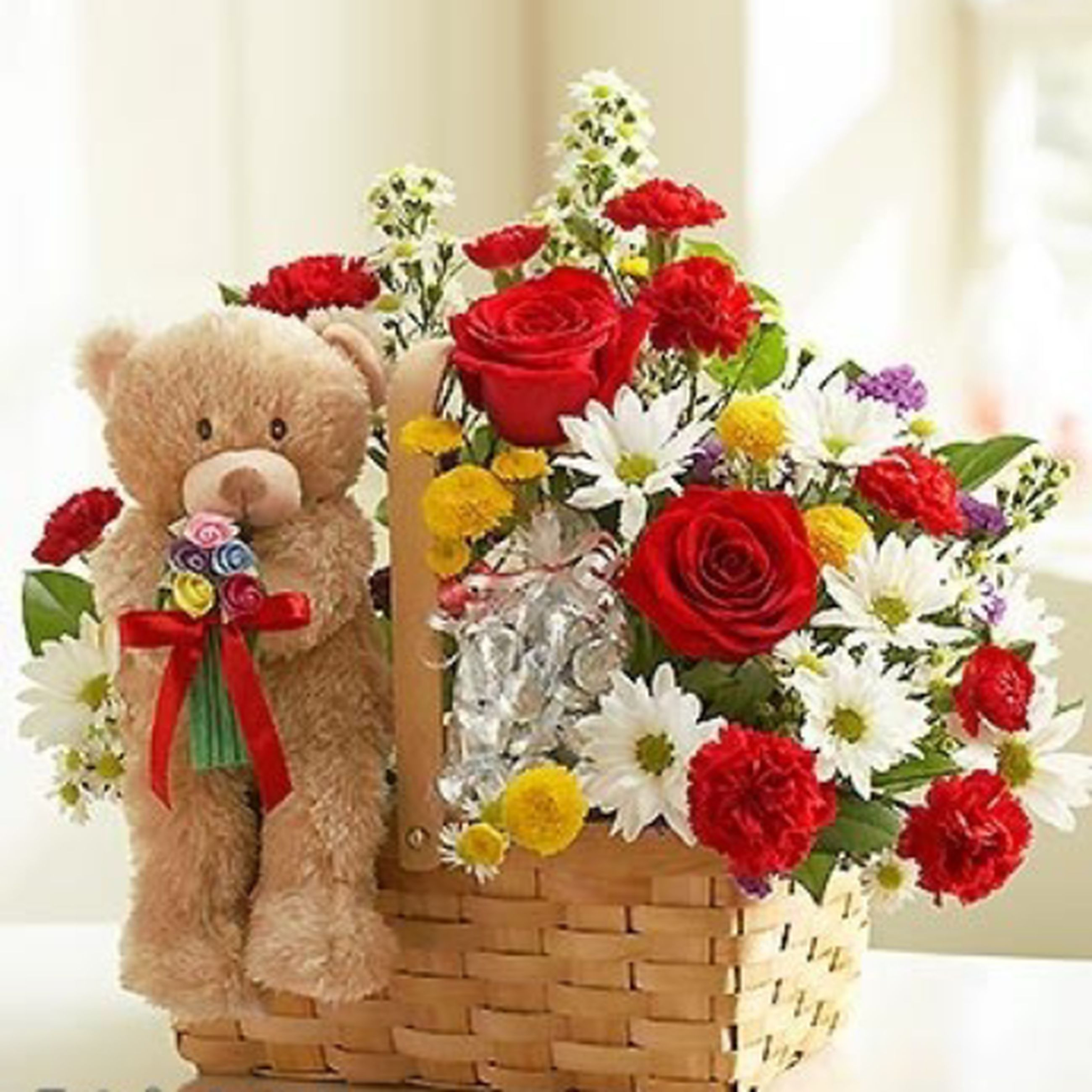 flower, indoors, bouquet, freshness, multi colored, fragility, vase, petal, flower head, home interior, bunch of flowers, decoration, flower arrangement, variation, toy, red, rose - flower, wall - building feature, art and craft, human representation