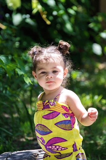 Childhood One Person Child Portrait Children Only Outdoors Day Home Happiness Bright Innocence Enjoying Life Detroit Girl Cutie Twoyearold  Beautiful