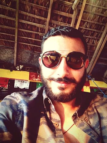 Beard Mexicanstyle Sunglasses Happy