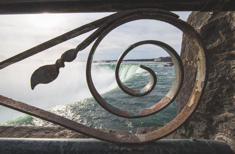 Circle Close-up Cloud - Sky Day Design Geometric Shape Glass - Material Metal Nature No People Old Outdoors Rusty Sea Shape Sky Tree Water Wheel Window