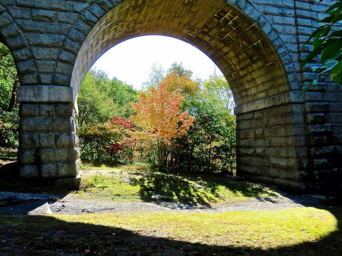Echo bridge Arch Light And Shadow Stone Bridge Under The Bridge Aquaduct At the time this bridge was bulit, it was the second largest stone bridge in the United States.