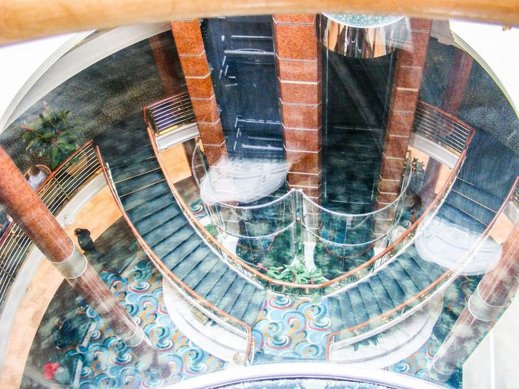 Enjoying Life Staircase Glass Elevator From Where I Stand Taking Photos Photos By Jeanette Cruise Ship Showcase April Check This Out Fine Art Fine Art Photography