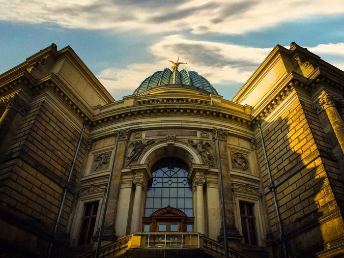 Travel Photography Travel Destinations Photography Saxony Dresden EyeEm Selects Architecture Built Structure Sky Cloud - Sky Building Exterior Low Angle View Dome City No People