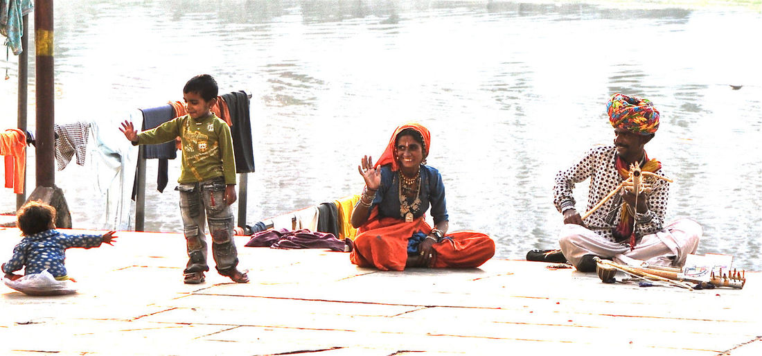 Family India Musician Rajasthan Udaipur