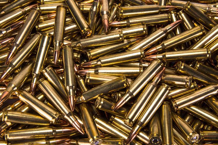 Full Frame Shot Of Bullets