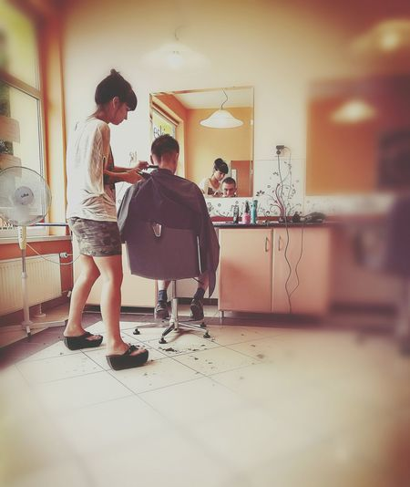 Barbershop Barber My Friend In Work My Turn  People People Photography Check This Out EyeEm Best Shots
