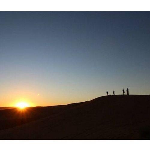 Sahara sunset   Marocco - March 2015 Travel Natgeotravel Nature Minimal Beautiful Sunset Instasunset Amazing People Ignature Desert Sahara Marocco Maroc 4LTROPHY