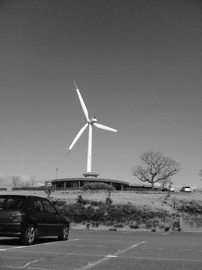 Alternative Energy Environmental Conservation Wind Turbine Windmill Wind Power Car Clear Sky Blue Drive Clear Sky Traditional Windmill Sky Peugeot Peugeot306 Peugeot306S16 306 306s16