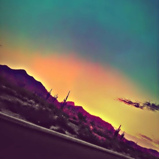 Instadesert Glendaleaz Desertlivin Sunrise in Arizona Cacti Mountains Morningdrive Cloud Igersphx Igersonly Instagramaz Instagramhub Colorful Peaceful Serene Awesome PixlrExpress Goodmorning have a nice day everyone! <3
