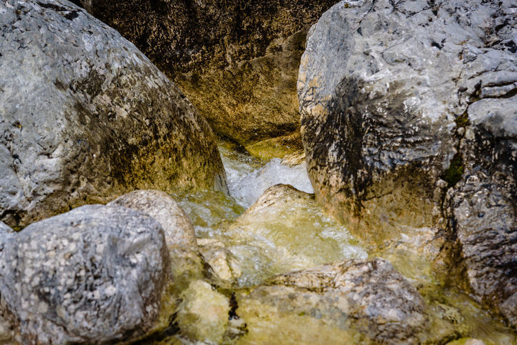 Erve Erve Miozzo Photo Miozzo Stream - Flowing Water Non-urban Scene Scenics - Nature Tranquility Beauty In Nature Textured  No People Rough Day Water Rock Formation Geology Rock Solid Rock - Object Flowing Flowing Water Nature Outdoors Close-up Land