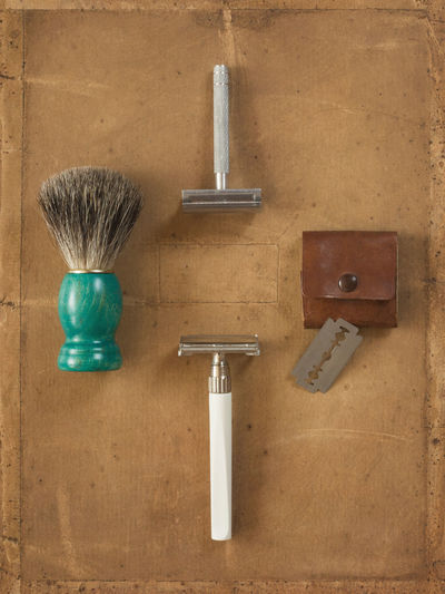 Close-Up Of Shaving Objects