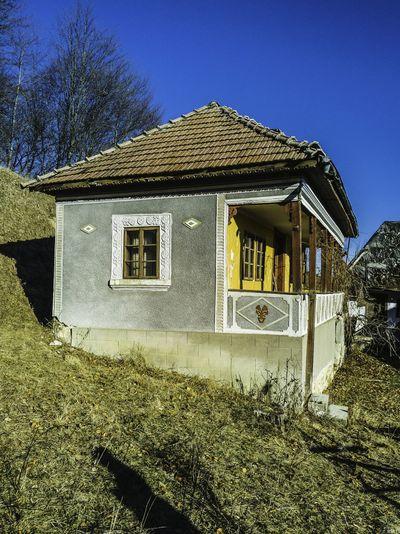 House against clear sky