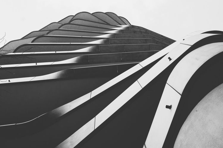 8ung Hamburg Monochrome Blackandwhite Architecture Abstract Detail Twisted Shift Balcony Terrace Layers Exterior Building