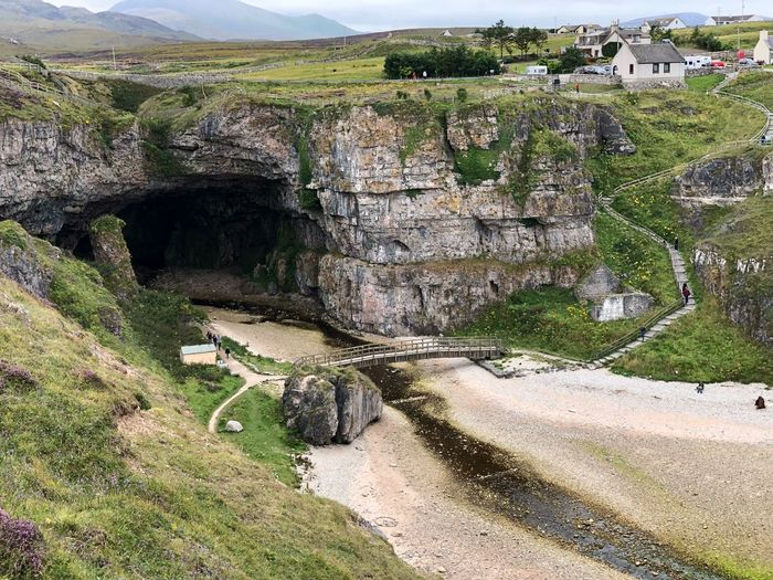 Smoo cave. #Scotland Scotland Sunlight Day Plant Landscape High Angle View Environment Rock Mountain Water Non-urban Scene Outdoors Sunlight Day Plant Landscape High Angle View Environment Rock Mountain Water Non-urban Scene Outdoors
