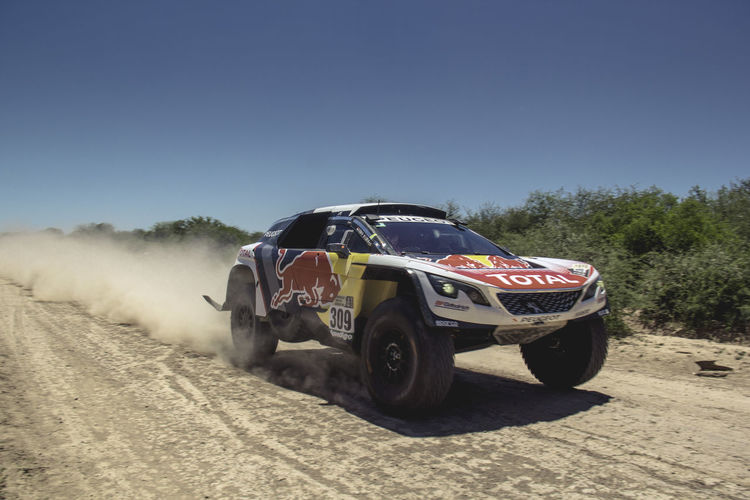 BYE. Dakar Car Clear Sky Day Nature Outdoors Peugeot Red Bull Total