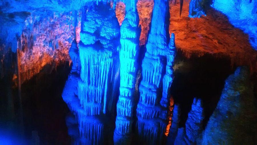 estalactitas, estalagmitas Estalactita Estalagmitas Cueva Cave Blue