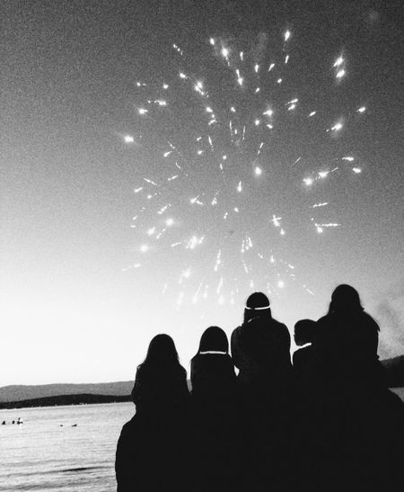 Children Having Fun In The Summertime Lake Life Beautiful ♥ The Small Things In Life Blackandwhite Photography Black & White Firework🎆 Independenceday Watchingfireworksonthelake