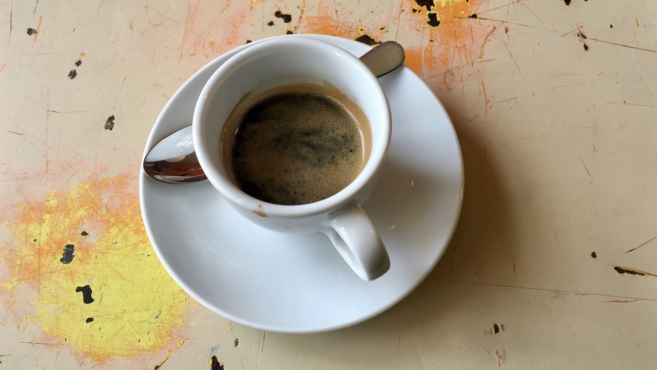 coffee cup, refreshment, drink, table, saucer, food and drink, freshness, no people, indoors, close-up