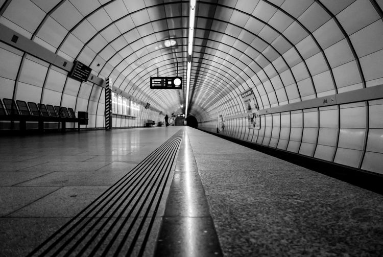 the Underground Station Architecture Architecture_bw Architecture_collection B&w Photography Bahnhof Showcase: January Diminishing Perspective Leading Modern München Perspective Public Transport Public Transportation Rail Transportation Railroad Station Railroad Track Rohre The Way Forward Transportation Tunnel U-Bahn U-Bahnhof Underground Urban Geometry Urbanphotography