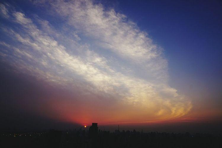 Beautiful Sunset Amazing Clouds Twilight Sky Bangkok Sky