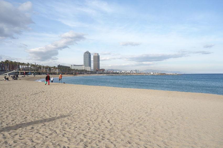 Barcelona Beach Ocean Outdoors Sea Sea And Sky