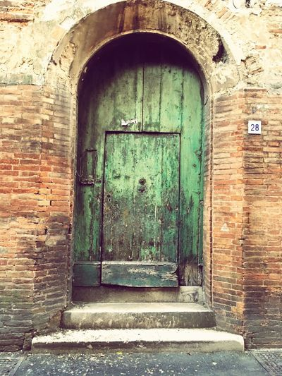 Green Door Ceramic City Fajance Faenza City Middelages Very Old City Italy🇮🇹 Summertime 🌞 Collection Of Doors Old Door Architecture Built Structure Arch Building Building Exterior No People Entrance Outdoors House The Way Forward Door Wall Day Wall - Building Feature Brick Brick Wall Closed Old Direction