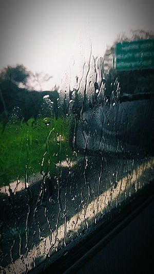 Water Wet No People Outdoors Day Rural Scene Nature Sky Close-up EyeEmNewHere The Week On EyeEm Mode Of Transport Rainy Day Waterdrops Water Droplets Window Raindrops On My Window Public Transportation Rainy Days Berlin Love