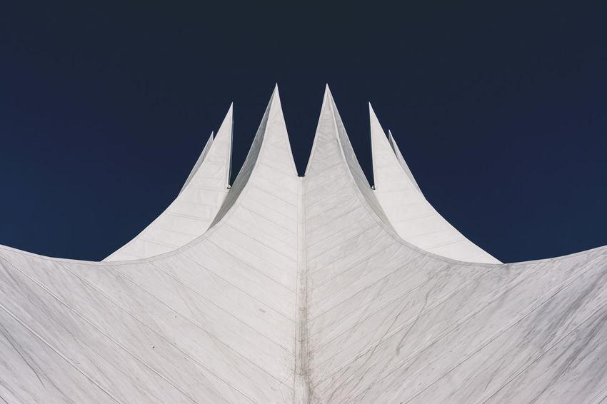 Event Venue Tempodrom Architecture Berlin Germany 🇩🇪 Deutschland Horizontal Blue Building Exterior Built Structure Clear Sky Color Image Copy Space Day Design High Section Low Angle View No People Outdoors Pattern Shape Sky Sunlight Tempodrom Berlin Tent Travel Destinations White Color