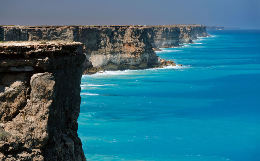 Nullarbor Great Australian Bight Bunda Water Sea Rock Land Scenics - Nature Blue Solid Rock Formation Sky Tranquil Scene Beauty In Nature No People Tranquility Cliff Turquoise Colored Stack Rock The Great Outdoors - 2019 EyeEm Awards