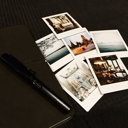 Treasure Moment EyeEmNewHere Precious Memories Memory Precioustime PreciousMoments Moments InstaxSQ10 Instax Polaroid Journal Journey Diary High Angle View No People Table Indoors  Close-up Day EyeEmNewHere