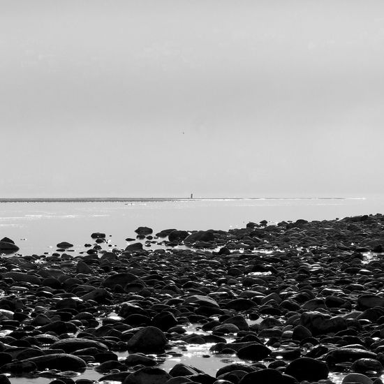 Beach Beauty In Nature Bnw Bnw_captures Bnw_collection Day Horizon Over Water Nature No People Outdoors Pebble Beach Scenics Sea Sky Tranquil Scene Tranquility Water