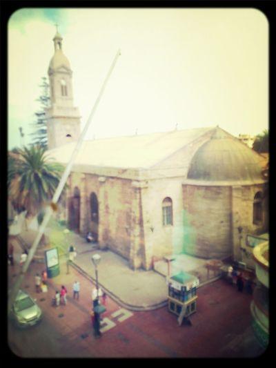 catedral de Serena, vista desde el patio de comidas en ripley