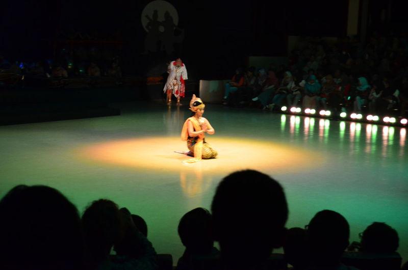 Sita inside the Lakshman rekha at the Ramayana ballet performance in Parambanan temple Prambanan Prambanan Temple Sita Ramayana Ramayanaballet Theatre Performance Ballett Jogja Jogjakarta INDONESIA
