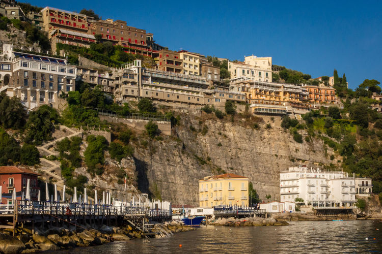 Buildings by sea at sorrento
