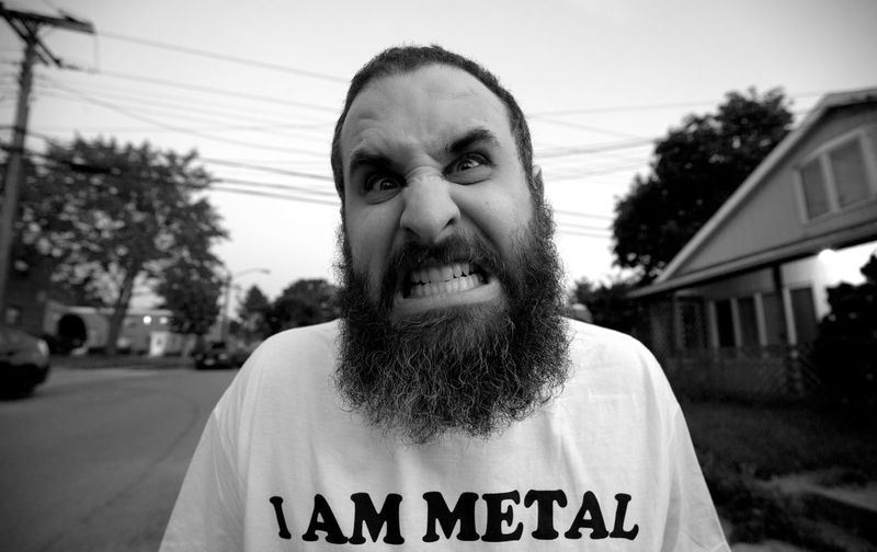 Metal 🤘🏻 Music Rock Metal Crazy People Of EyeEm People Neighborhood Blackandwhite EyeEm Best Shots - Black + White Dude RockandRoll Wild Portrait Fun Funny Mental Concert Angry Mad Teeth Cool Anxiety
