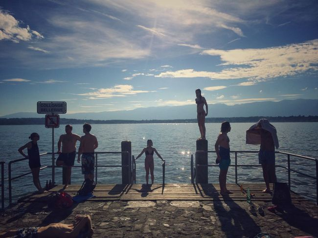 Kids of the summer. Sunlight Summer Outdoors Real People EyeEm IPhoneography Kids Life Horizon Over Water