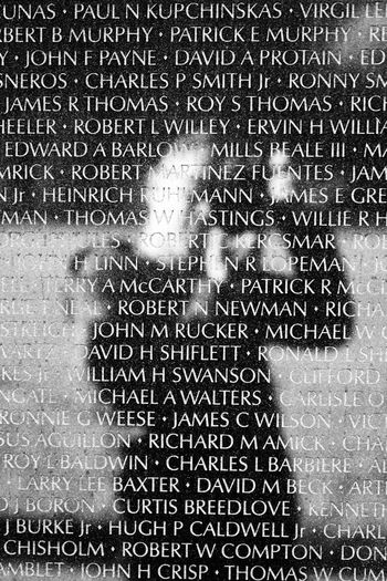 Vietnam war memorial Blackandwhite Monochrome Wall Memorial Names Military Soldiers Proud Washington, D. C. Reflects Pixelated Backgrounds Technology Full Frame Abstract Pattern Close-up